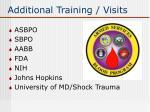 additional training visits