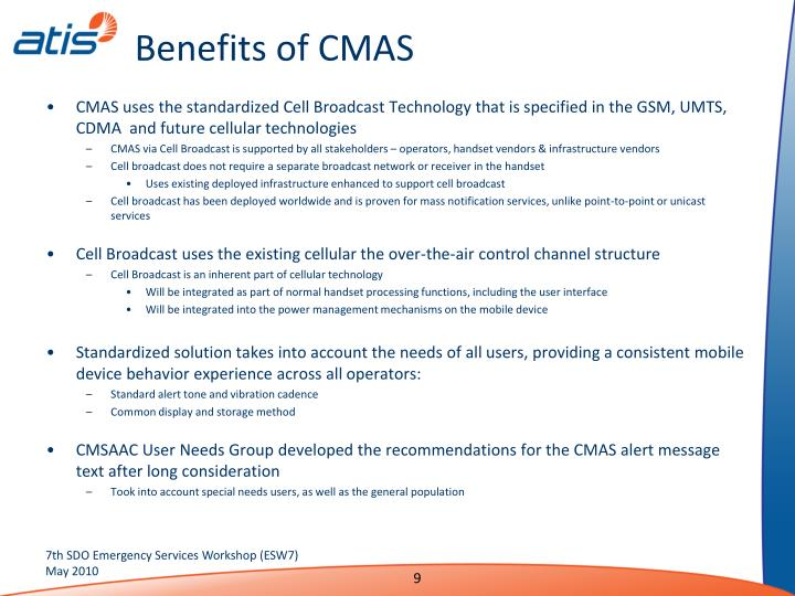 Benefits of CMAS