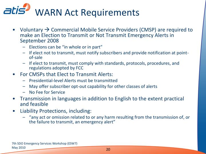 WARN Act Requirements