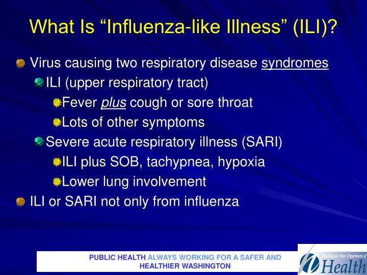 "What Is ""Influenza-like Illness"" (ILI)?"