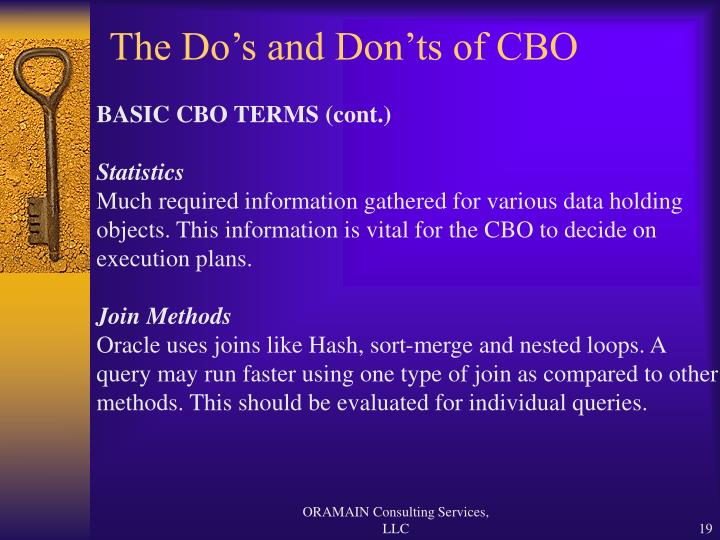 The Do's and Don'ts of CBO