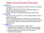 steps during dynamic execution