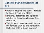 clinical manifestations of all
