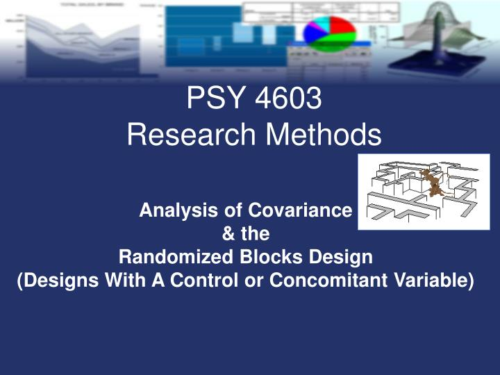 analysis of covariance the randomized blocks design designs with a control or concomitant variable
