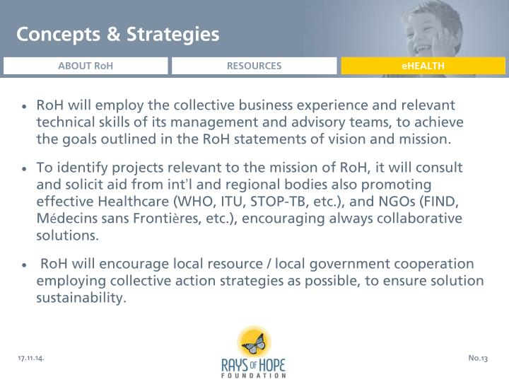 Concepts & Strategies