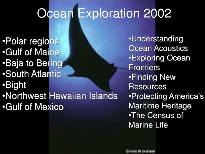 Ocean Exploration 2002