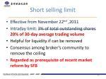 short selling limit