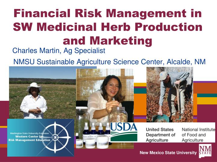 financial risk management in sw medicinal herb production and marketing n.