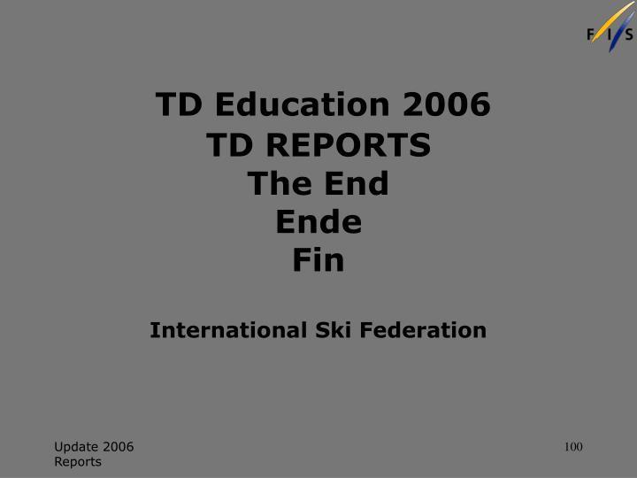 TD Education 2006