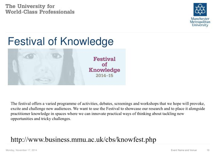 Festival of Knowledge