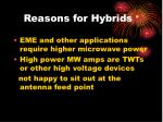 reasons for hybrids