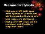 reasons for hybrids2