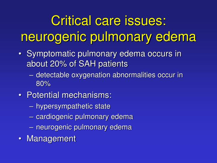 Critical care issues: