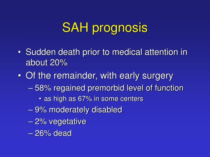 SAH prognosis