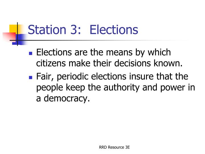 Station 3:  Elections