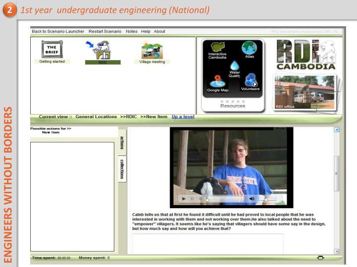 1st year  undergraduate engineering (National)