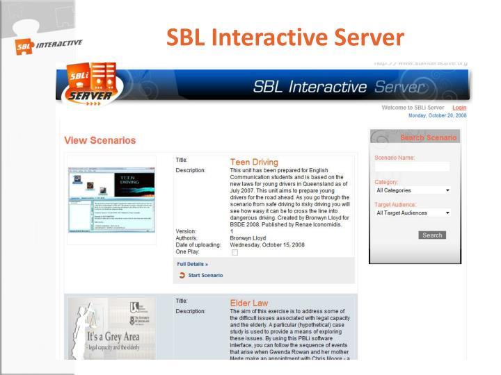 SBL Interactive Server