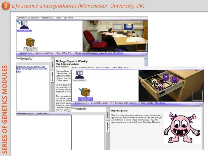 Life science undergraduates (Manchester  University, UK)