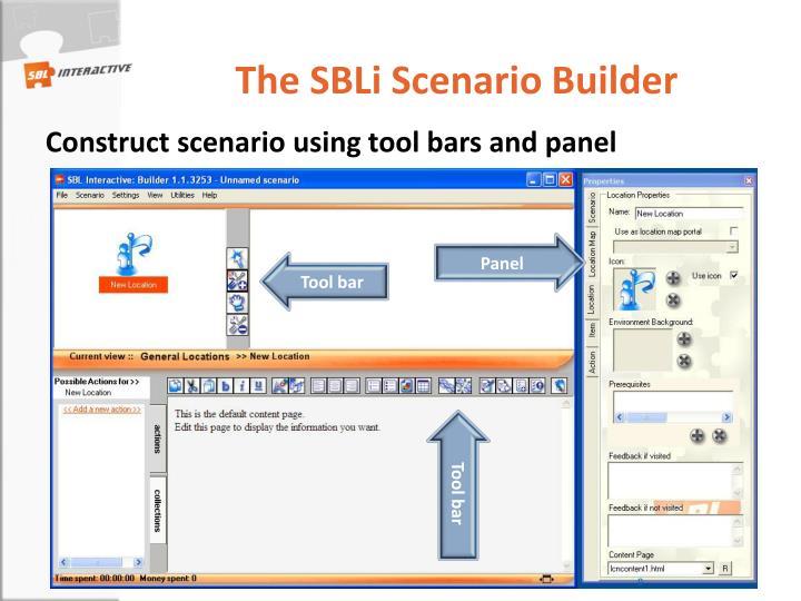 The SBLi Scenario Builder