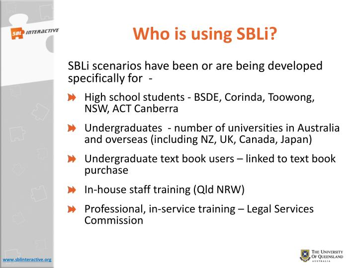 Who is using SBLi?