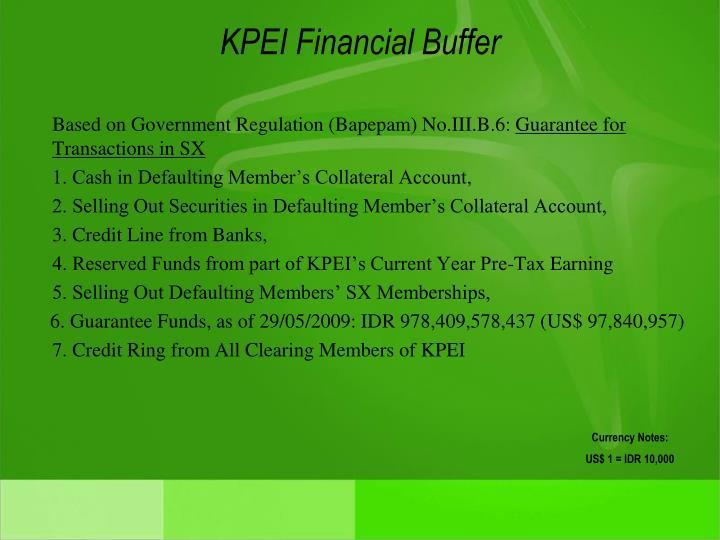 KPEI Financial Buffer