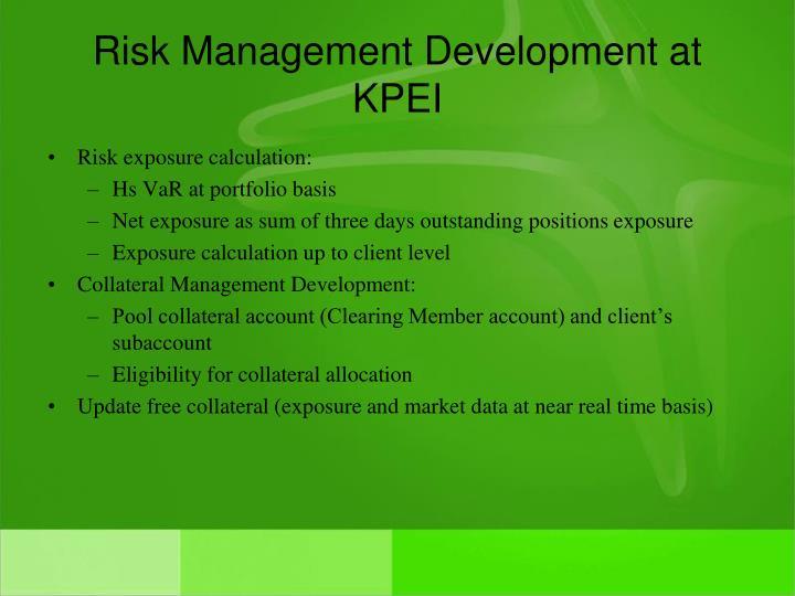 Risk Management Development at KPEI