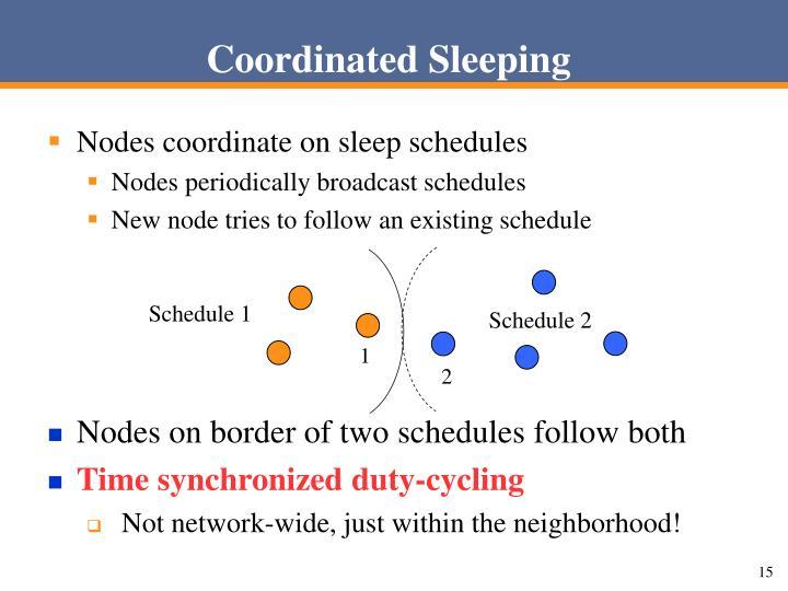 Coordinated Sleeping