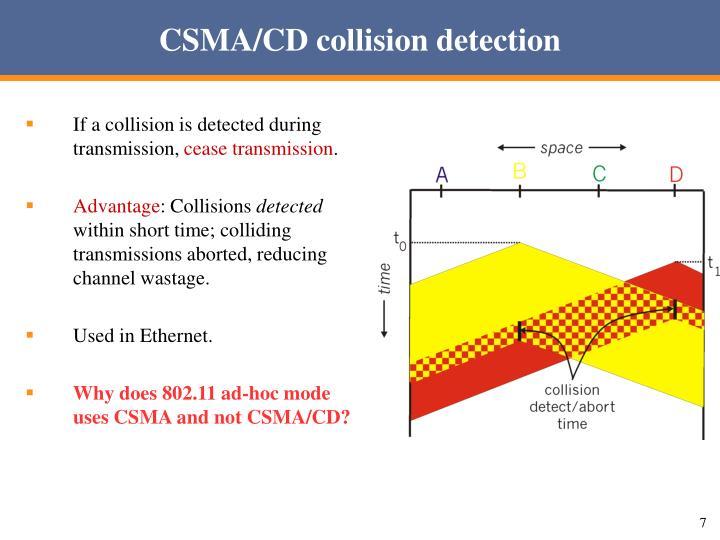 CSMA/CD collision detection
