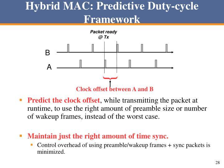 Hybrid MAC: Predictive Duty-cycle Framework