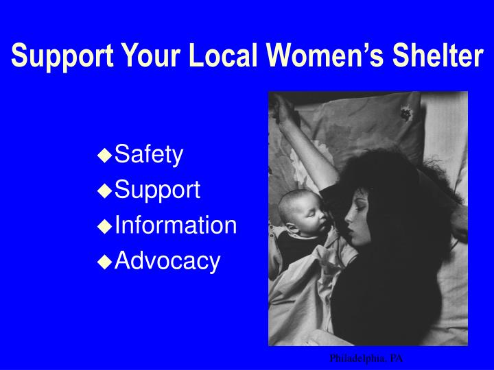 Support Your Local Women's Shelter