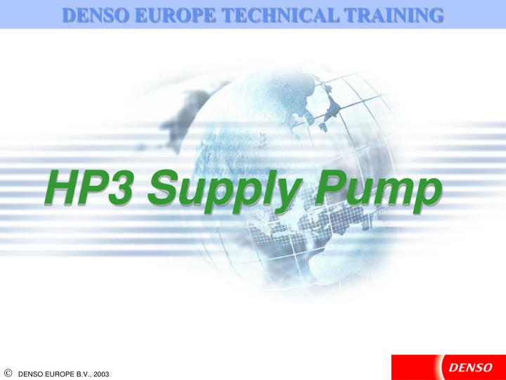 DENSO EUROPE TECHNICAL TRAINING