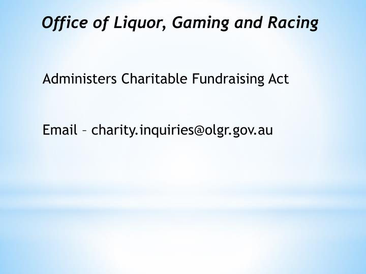 Office of Liquor, Gaming and Racing
