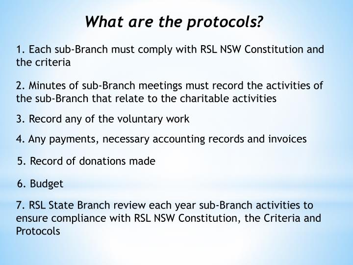 What are the protocols?