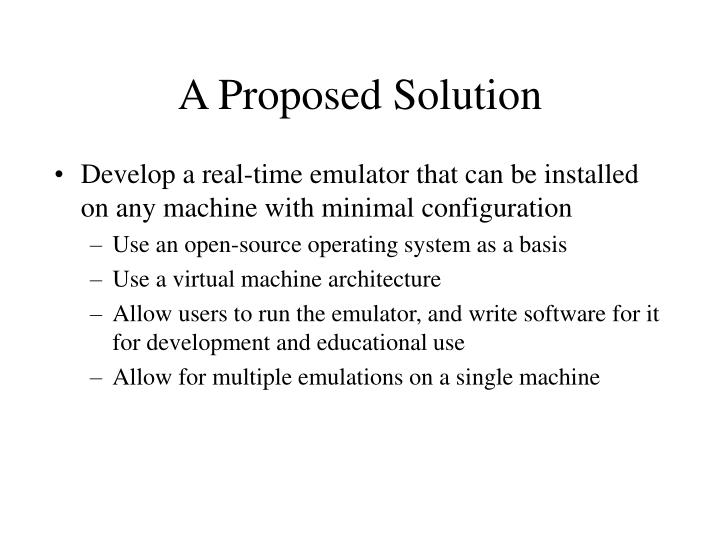 A Proposed Solution