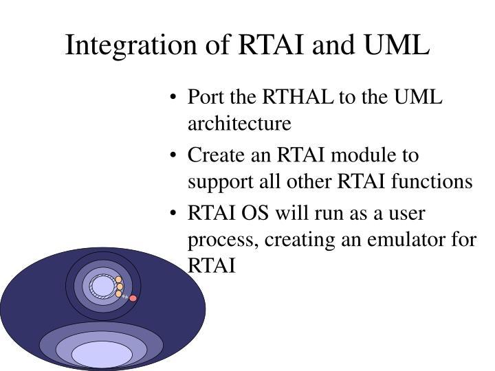 Integration of RTAI and UML