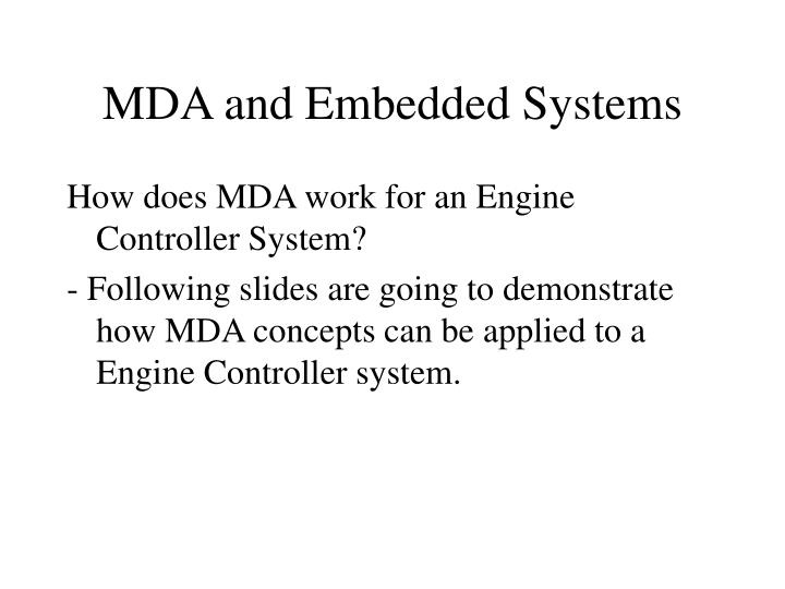 MDA and Embedded Systems