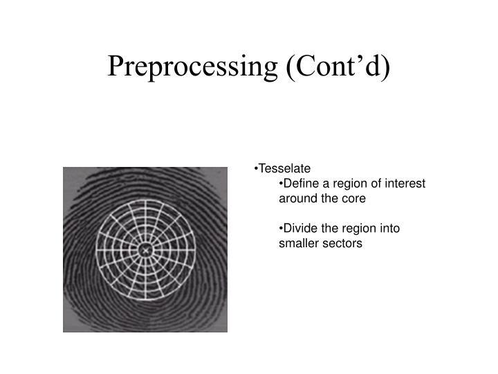 Preprocessing (Cont'd)