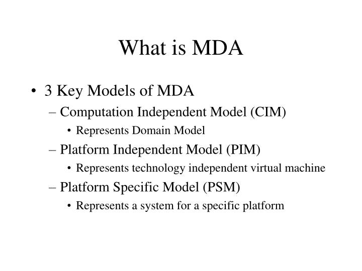 What is MDA