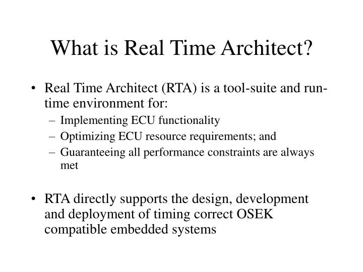 What is Real Time Architect?