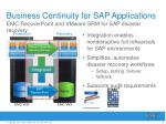 business continuity for sap applications