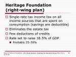 heritage foundation right wing plan
