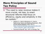 more principles of sound tax policy1
