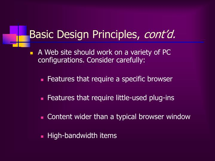Basic Design Principles,