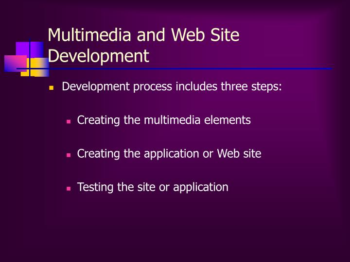 Multimedia and Web Site Development