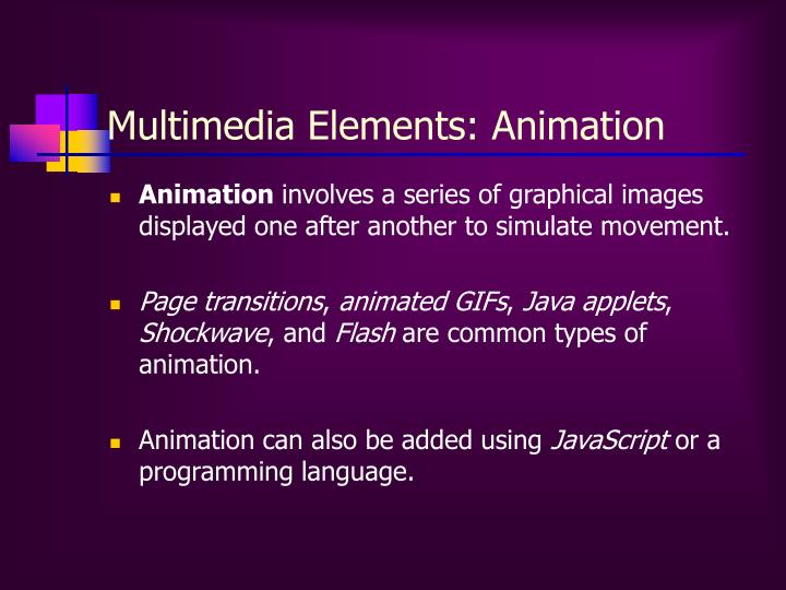 Multimedia Elements: Animation