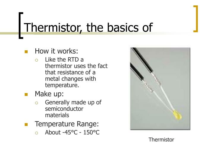 Thermistor, the basics of
