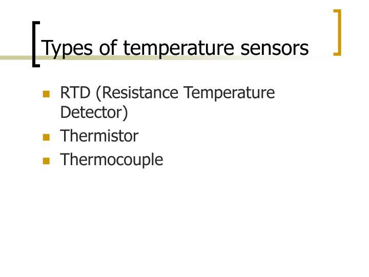 Types of temperature sensors