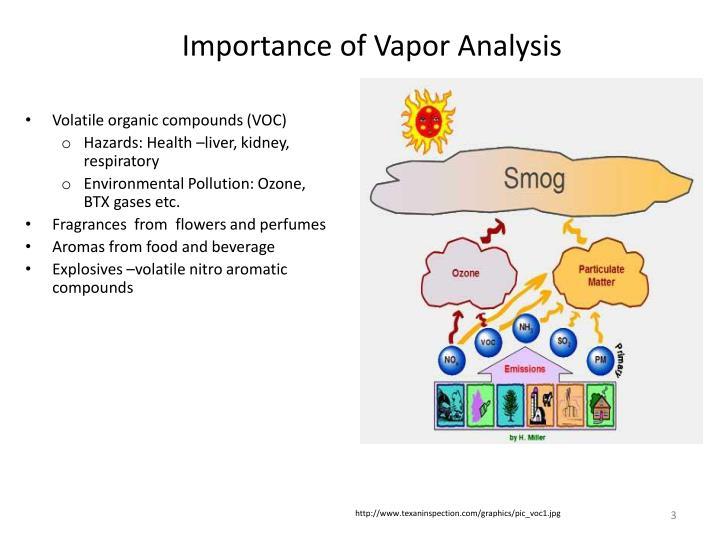 Importance of vapor analysis
