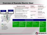 overview of roanoke electric steel