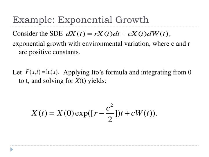 Example: Exponential Growth